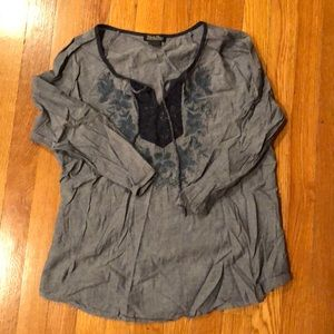 Lucky brand chambray tunic